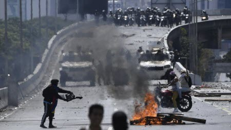 Лидер оппозиции Венесуэлы призвал ко всеобщей забастовке