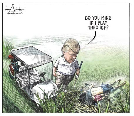 Канадский художник был уволен после вирусной карикатуры на Трампа