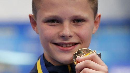 13-річний Олексій Середа виграв на чемпіонаті Європи зі стрибків у воду