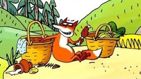Мультфильм для детей - Лиса и дрозд