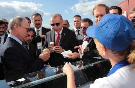 С кем Путин делится мороженым