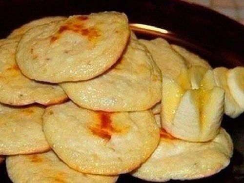 Творожно-банановые булочки без муки