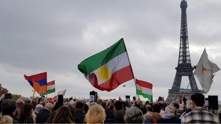 В Париже прошла акция в поддержку курдов