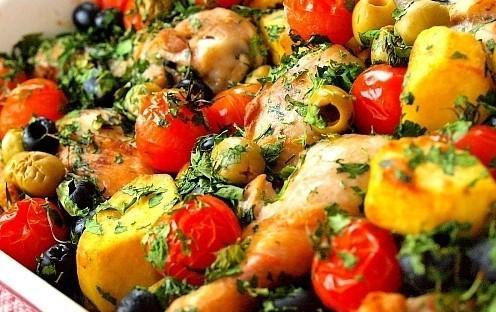 """Мамины секреты """"Курица с овощами и оливками"""""""