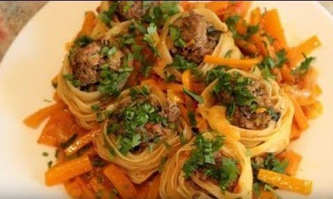 """Мамины секреты """"Спагетти с сыром и соусом"""""""