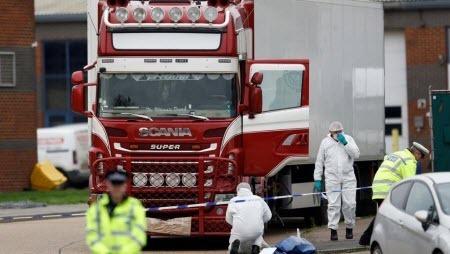 Британская полиция: все 39 жертв, найденные в фуре в Эссексе, — вьетнамцы