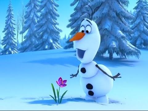 """Мультфильм для детей """"Холодное Сердце: Снеговик и Олень"""""""