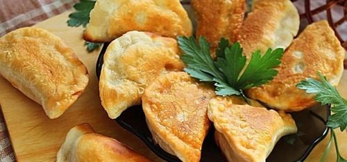 Жареные вареники с картошкой