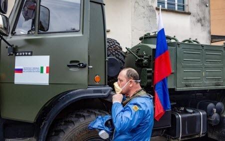 Российская миссия по оказанию помощи Италии - это прикрытие для сбора разведданных, утверждает британский эксперт