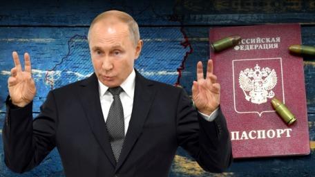 Путин поручил бесплатно выдавать паспорта РФ жителям Донбасса