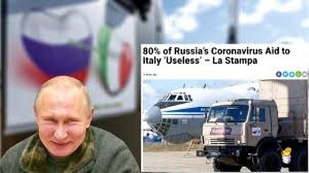Россия просит Италию уплатить по счету за гуманитарную помощь