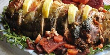 """Бабусині страви: """"Риба фарширована грибами"""""""