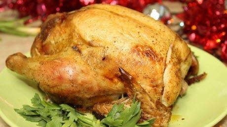 """Мамины секреты """"Курица запеченная в фольге, фаршированная грибами"""""""