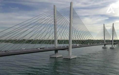 Строительство нового моста в Кременчуге