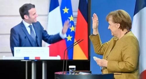 Меркель на переговорах с Макроном: «Северный поток-2» остается в силе