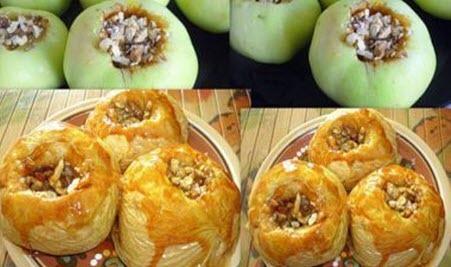 """Бабусині страви: """"Яблука з медом та горіхами"""""""