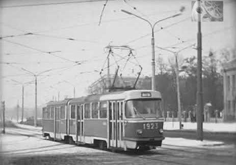 Город зимой, Харьков 1977 год
