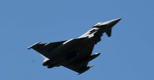 Во время военных учений на николаевском полигоне «Ширлан» работал британский истребитель Typhoon