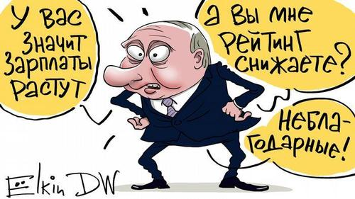 «Левада-центр»: Рейтинг доверия к Путину снизился до 31%