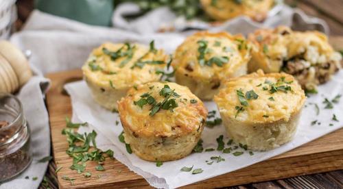 """Мамины секреты """"Маффины с картофелем, сыром и зеленью"""""""