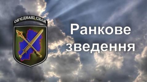 Зведення прес-центру об'єднаних сил станом на 07:00 14 жовтня 2021 року